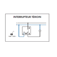 Schéma de montage Interrupteur Témoin EFAPEL série 3700