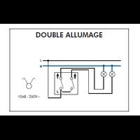 Schéma de montage Interrupteur Double Allumage EFAPEL série 3700