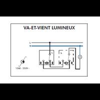 Interrupteur Va-et-Vient Lumineux EFAPEL série 3700
