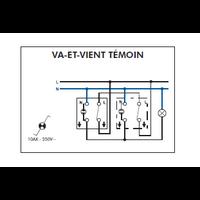 Schéma de montage Interrupteur Va-et-Vient Témoin EFAPEL série 3700