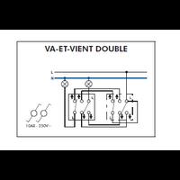 Schéma de montage Interrupteur Va-et-Vient Double EFAPEL série 3700