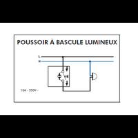 Schéma montage Bouton poussoir à bascule lumineux EFAPEL série 3700