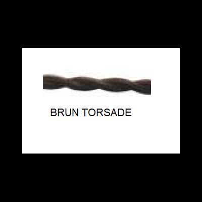 Câble 2x0,75mm tissus torsadé brun - au mètre