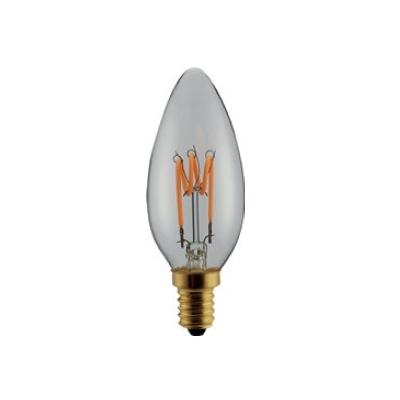 Ampoule LED filament Déco Flamme E14 Claire 3W Gradable