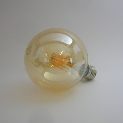 Ampoule LED Filament G95 Gold 8W Gradable