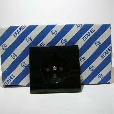 Enjoliveur prise 2P+T Noir APLOLO 5000