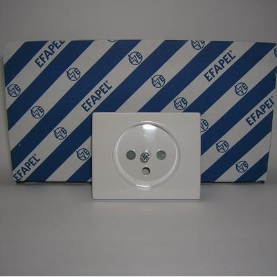 Enjoliveur Prise de courant 2P+T sirius70 Blanc