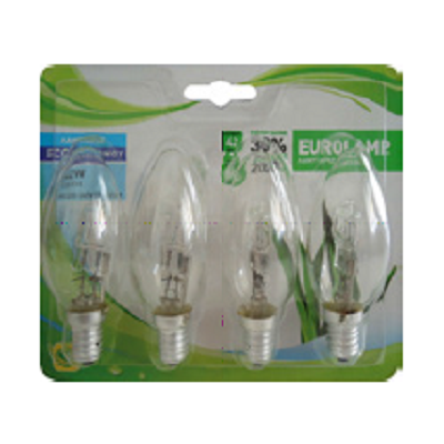 Lot de 4 Ampoules Halogène Flamme - 42W