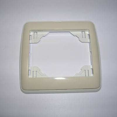 Plaque Simple sirius70 Ambiant Blanc/Ivoire