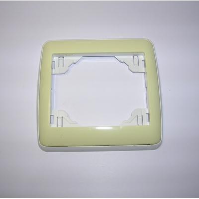 Plaque Simple sirius70 Ambiant Blanc/Vert