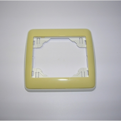 Plaque Simple sirius70 Ambiant Blanc/Jaune