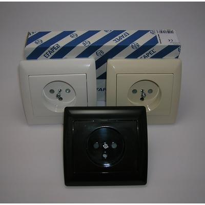 Prise de courant avec protection (2P+T) sirius70 Classique - Complet