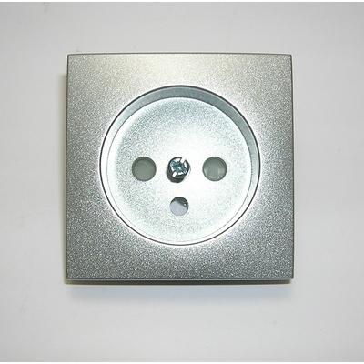 Enjoliveur prise 2P+T Alumine Logus90
