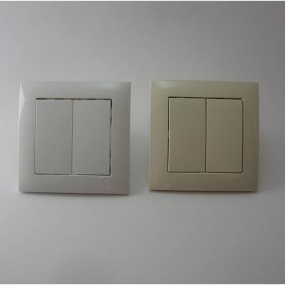 Interrupteur Double BASE LOGUS 90 - Blanc ou Ivoire