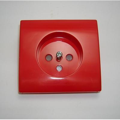 Enjoliveur prise 2P+T Rouge APOLO 5000