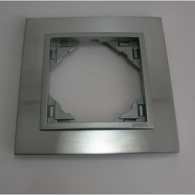 Plaque LOGUS90 METALLO - Inox/Alumine