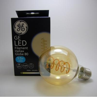 LED Filament Heliax Globe G80 5,5W Gradable E27