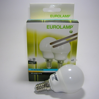 Lot 2 ampoules LED G45 E14 5W