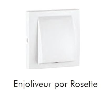 Enjoliveur LOGUS90 Blanc pour sortie de câble