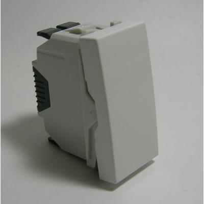 Interrupteur Unipolaire Semi-Assemblé - 1 module - Blanc