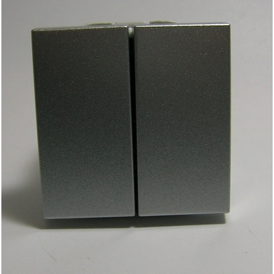 Interrupteur Double Allumage Semi-Assemblé - 2 modules - Alumine