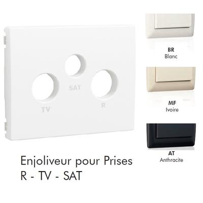 Enjoliveur de Prise R-TV-SAT 3 sorties - Sirius70