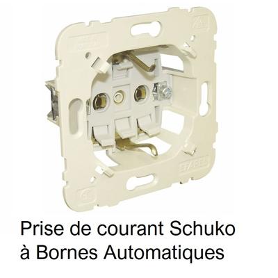 Mécanisme de Prise de courant Schuko à Bornes Automatiques