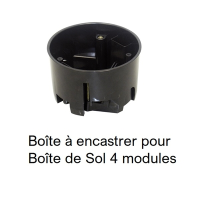 Boîte à encastrer pour Boîte de Sol 4 modules