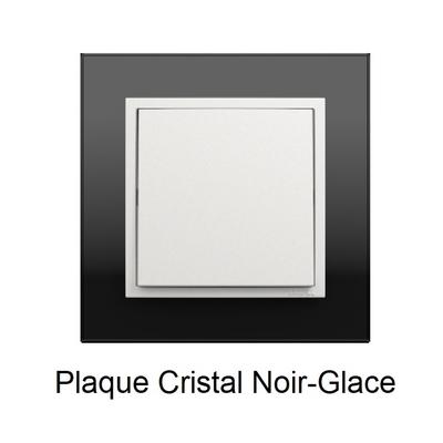 Plaque Verre LOGUS90 - Crystal Noir/Glace