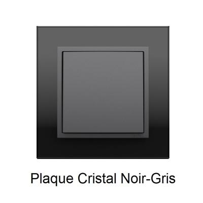 Plaque Verre LOGUS90 - Crystal Noir/Gris