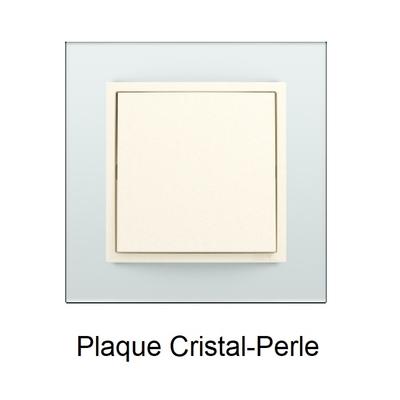Plaque Verre LOGUS90 - Crystal/Perle