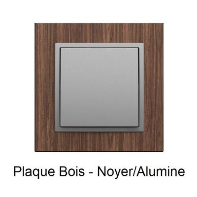 Plaque Bois LOGUS90 ARBORE - Noyer/Alumine
