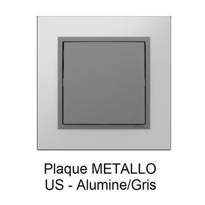 Plaque LOGUS90 METALLO - Alumine/Gris