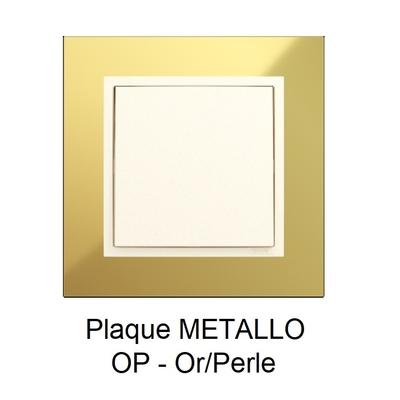 Plaque LOGUS90 METALLO - Or/Perle