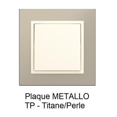 Plaque LOGUS90 METALLO - Titane/Perle