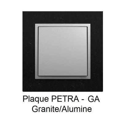 Plaque LOGUS90 PETRA - Granite/Alumine
