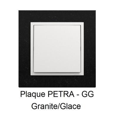 Plaque LOGUS90 PETRA - Granite/Glace