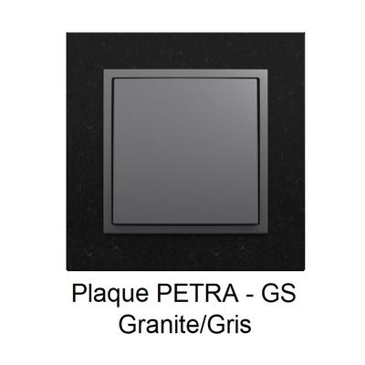 Plaque LOGUS90 PETRA - Granite/Gris