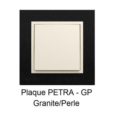 Plaque LOGUS90 PETRA - Granite/Perle
