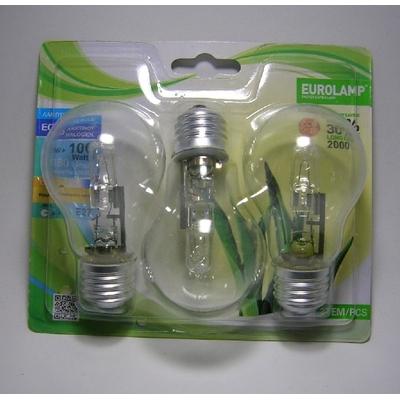 Lot de 3 Ampoules Halogène Classique A55 - 70W