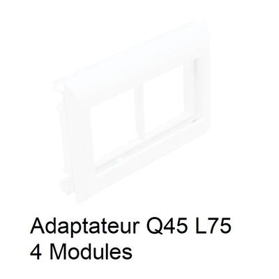 Adaptateur Q45 Couvercles L75 - 4 Modules