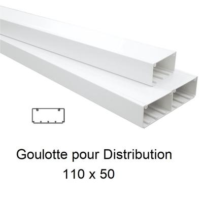 Goulotte de Distribution 110x50mm Blanche - Longueur 2,00m