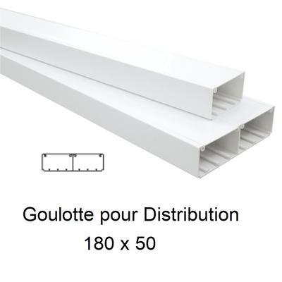 Goulotte de Distribution 180x50mm Blanche - Longueur 2,00m