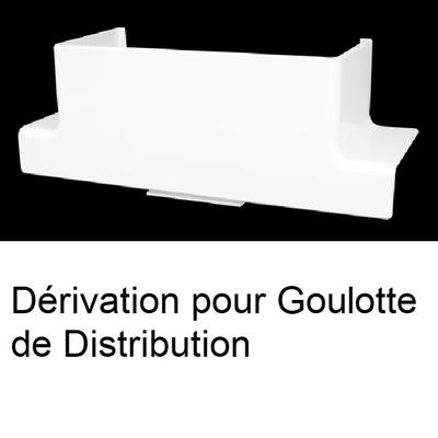Dérivation pour Goulotte de Distribution Série 10 - Blanc