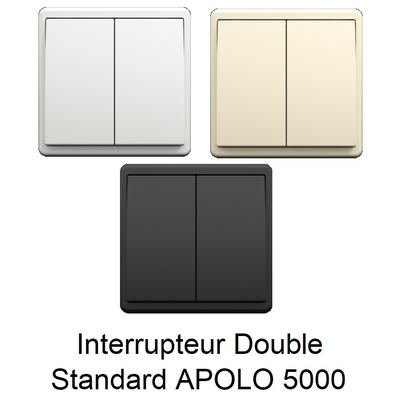 Interrupteur Double APOLO 5000 Standard