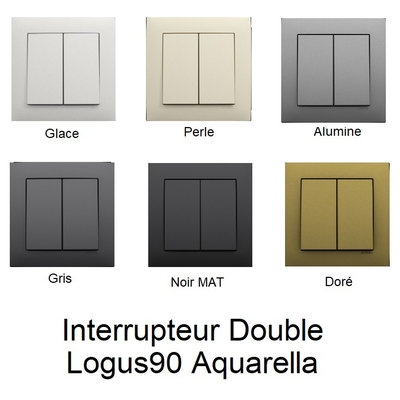 Interrupteur Double LOGUS90 - AQUARELLA