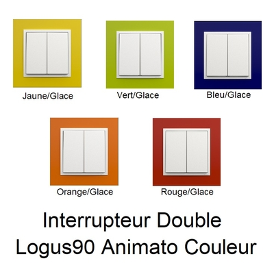 Interrupteur Double Logus90 - Animato Couleur