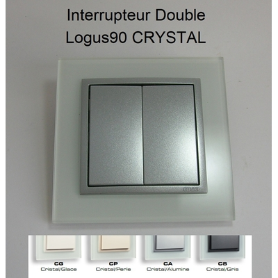 Interrupteur Double - Logus90 CRYSTAL