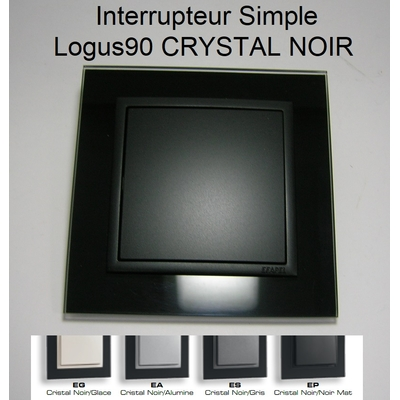 Interrupteur Simple - Logus90 CRYSTAL NOIR