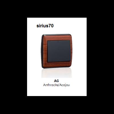 Interrupteur sirius70 Bois Complet - Anthracite